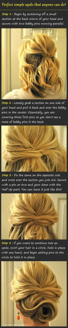 Pretty and Simple Updo Tutorial