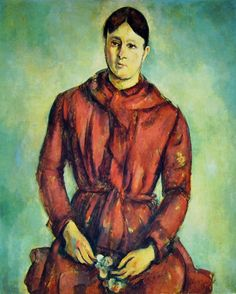 Cezanne - La Signora Cezanne in Rosso