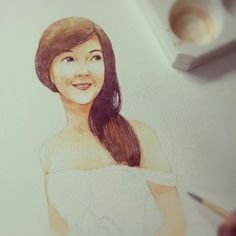 My watercolor painting for Thai cover book ;)