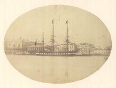 "Austrian frigate SMS ""Novara"" in Venice 1850's"