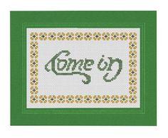 Pattern Funny Cross Stitch Come In / Go Away Home Decor Humorous Subversive DIY PDF Original