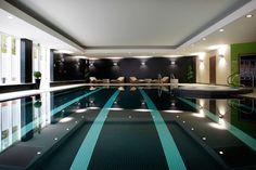 Modern Hotel | Radisson Blu Hotel interior design by Ward Robinson | Durham | Spa black swimming pool