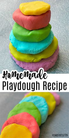 You'll never go back to store bought again after you try this easy homemade playdough recipe. Soft, squishy, and moldable. Perfect for sensory play. #sensoryplay #playdough #playrecipe #kidsactivities #preschool Calming Activities, Sensory Activities, Craft Activities For Kids, Sensory Play, Kid Crafts, Toddler Activities, Preschool Activities, Easy Homemade Playdough Recipe, Cooked Playdough