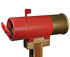 Wooden swan mail box | Bullet Casing Mailbox