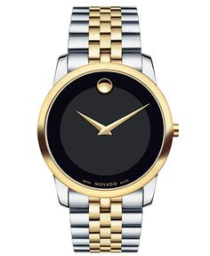 Movado Women's Swiss Museum Classic Two-Tone Stainless Steel Bracelet Watch 28mm 0606605