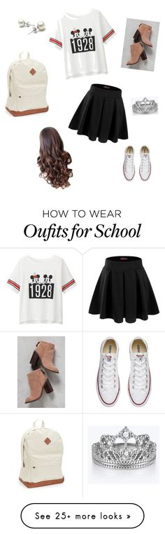 """""""Nice but Comfy for school"""" by thesandlott on Polyvore featuring Uniqlo, Doublju, Kelsi Dagger Brooklyn, Aéropostale and Converse"""