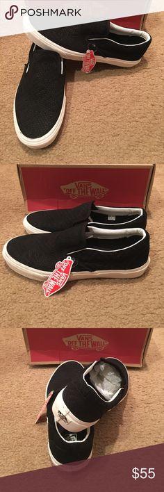 fad76ee8dc Vans Braided Suede Classic Slip Ons New in box. Black Vans Shoes Sneakers  Black Vans
