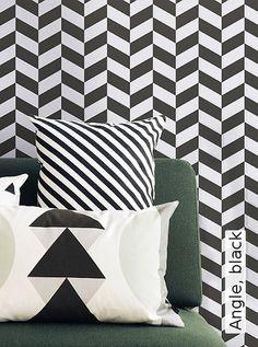 Bild: Tapeten - Angle, black