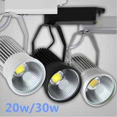 Led Track Light 30w Cob Spotlights 85-265v Modern Ceiling Home Wall Deco Track Rail Spot Fixture For Retail Shop Art Gallery Keep You Fit All The Time Lights & Lighting