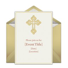 Customizable, free Cross online invitations. Easy to personalize and send for a party. #punchbowl