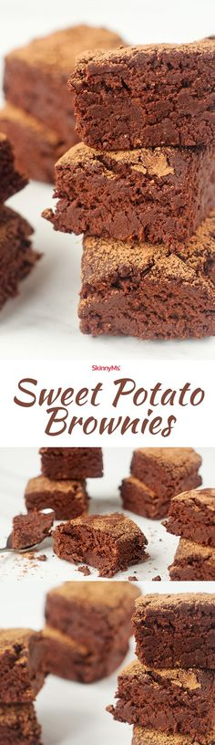 Sweet Potato Brownies If you make healthy substitutions to your favorite dessert recipes, you can enjoy sweets without sacrificing your health. These sweet potato brownies are a perfect example. Mini Desserts, Brownie Desserts, Oreo Dessert, Coconut Dessert, Low Carb Dessert, Coconut Sugar, Light Desserts, Healthy Sweet Treats, Healthy Dessert Recipes