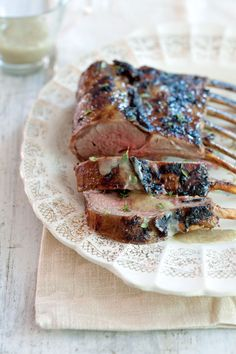 Vanilla and Peppercorn-Crusted Rack of Lamb with Vanilla Bean Butter Sauce