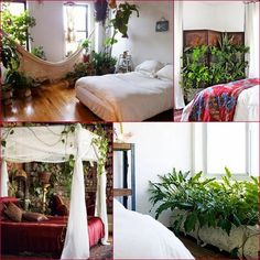GypsyYaya-Plants In Bohemian Bedrooms