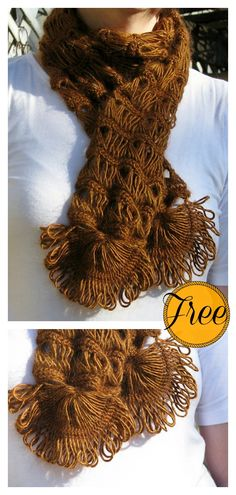 Broomstick Lace Scarf Free Crochet Pattern
