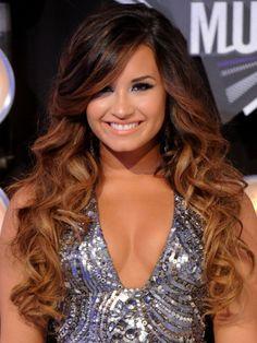 ombre hair ideas | Demi Lovato Ombre Hair Color Ideas