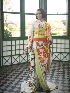 Japanese Wedding Kimono, Japanese Kimono, Japanese Style, Wedding Images, Wedding Styles, Kimono Japan, Japanese Geisha, Japanese Outfits, Kimono Dress