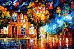 CITY OF MOON LIGHT BY AFREMOV by Leonidafremov.deviantart.com
