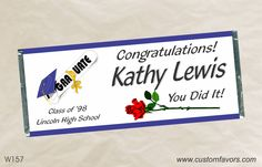 Graduation party favors - personalized candy bar wrappers from www.customfavors.com. #graduation #grad #personalizedbars #chocolate