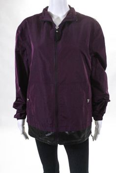 9d45a2bb 669.42 | Versace Women's Jacket Size 44 Italian Purple Leather Trim New  $2224 ❤ #versace #womens #jacket #italian #purple #leather #SamEdelman  #ASOS #denim ...