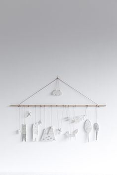 LOVELY MOBILE MADE OF PORCELAIN via STUDöIO OINK SELECTED. Click on the image to see more!