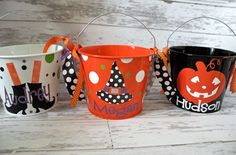 Personalized Custom Halloween Buckets...I can make these, too!!
