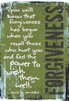 How true this is!! We must forgive to be forgiven!!