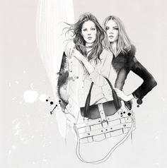 Fashion illustration - stylish fashion drawing; lookbook sketch // Esra Roise