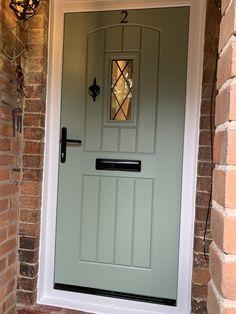 Rockdoor are the most secure doors you can get. Cottage Style Front Doors, Country Front Door, House Front Door, House Doors, Unique Front Doors, Green Front Doors, Painted Front Doors, Front Door Colors, Wooden Front Doors