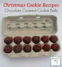 Our version of chocolate covered cookie balls.