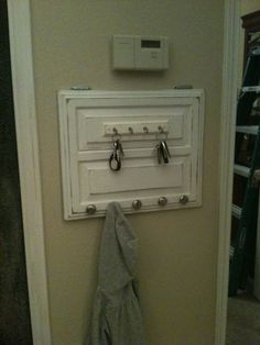 key holder made from old cabinet door