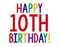 Happy Birthday Sign for Birthday Gift Idea Happy 10th Birthday, Happy Birthday Signs, Birthday Poems, Sister Birthday Quotes, 10th Birthday Parties, Birthday Gifts For Boys, Happy Birthday Messages, Happy Birthday Images, Birthday Fun
