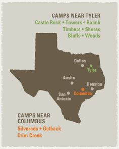 Map of Camp Locations