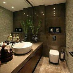Luxury Bathrooms, Décor Ideas, Home Look, Beautiful Bathrooms, Bath Room, Corner Bathtub, Housekeeping, My Dream Home, Bathroom Ideas