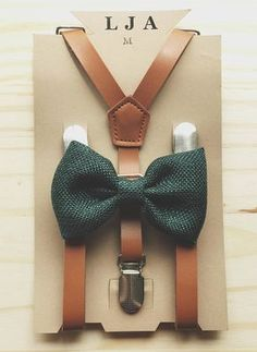 Brown Suspenders with Green Bow Tie for Groomsmen Gifts Leather Suspender and Bowtie Set Outfits Suspenders for Men Suspenders for Women Groomsmen rustic wedding outfits groomsmen outfits rustic Brown Suspenders, Suspenders For Women, Leather Suspenders, Baby Ring Bearers, Groomsmen Outfits, Groomsmen Ties, Vintage Groomsmen Attire, Brown Groomsmen, Groom Suits