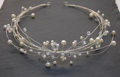 Braut+Diadem-STIRNREIF+mit+Süsswasser-Perlen++von+Schmuckemotionen+auf+DaWanda.com