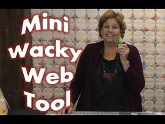 Periwinkle quilt...How to Use the Mini Wacky Web Quilting Tool! - YouTube