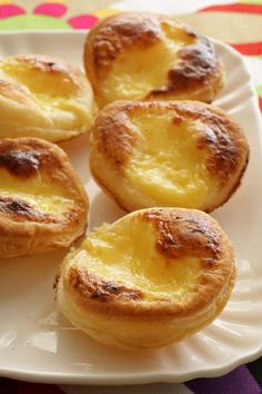 Easy Portugese tarts. This simplified version is perfect for parties. Use a good-quality butter puff pastry and be sure to roll it thinly.