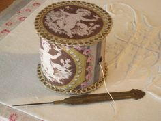 cartonnage box for crochet cotton ball