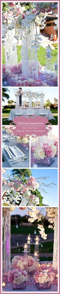 Floral Design: Karen Tran Florals Linens: Wildflower Linen Rentals: Kool Chairs Location: Rancho Valencia, Rancho Santa Fe Photography: 2 Rings and A Dress – Photographers