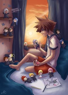 This scares me really bad, riku : what ya gonna do when ya get home sora? Sora : play with my voodoo dolls hehehe Kindom Hearts, Legend Of Zelda, Mind Blown, Final Fantasy, Chibi, Anime, Fan Art, Summer, Sora