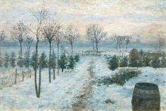 Winter in Uhlenhorst. Ernst Eitner