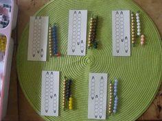 La maternelle à la maison: Les compléments de 10 avec les perles montessori