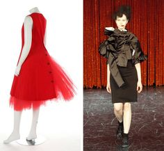 I will be analyzing the garment to the right which is the Fall/Winter ————————————— 7 Key Themes in Rei Kawakubo's Career - The New York Times New York Times, Ny Times, Rei Kawakubo, Colorful Fashion, Diy Fashion, T Magazine, Costume Institute, Drawing Clothes, Fashion History