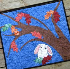 Autumn Leaves Bunny Quilt from Cottontail Quilts on Etsy  (I own this one!)