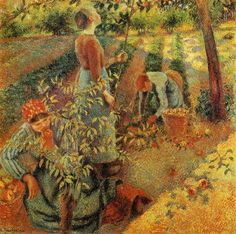 Apple Picking(1886)  Camille Pissarro