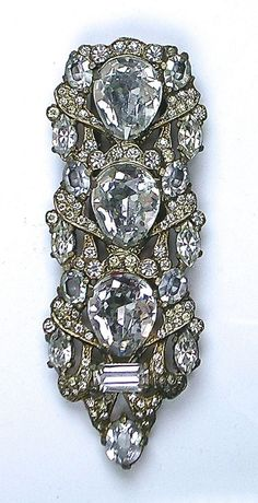 RARE Huge Eisenberg Dress Clip  ~ Stunning ~  Sparkle Galore #Eisenberg