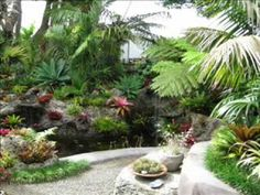 How to Make a Beautiful pond & waterfalls from recycled concrete - YouTube