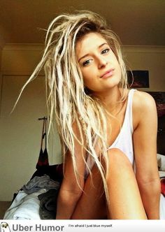 hair styles for white girl dreads - Google Search