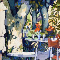 Scottish Artist Jennifer IRVINE-La Terrasse, Montmirail