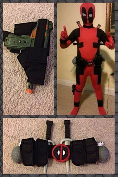 Make your own deadpool costume homemade how to youtube deadpool costume diy utility belt from nylon belt material elastic velcro dollar solutioingenieria Choice Image